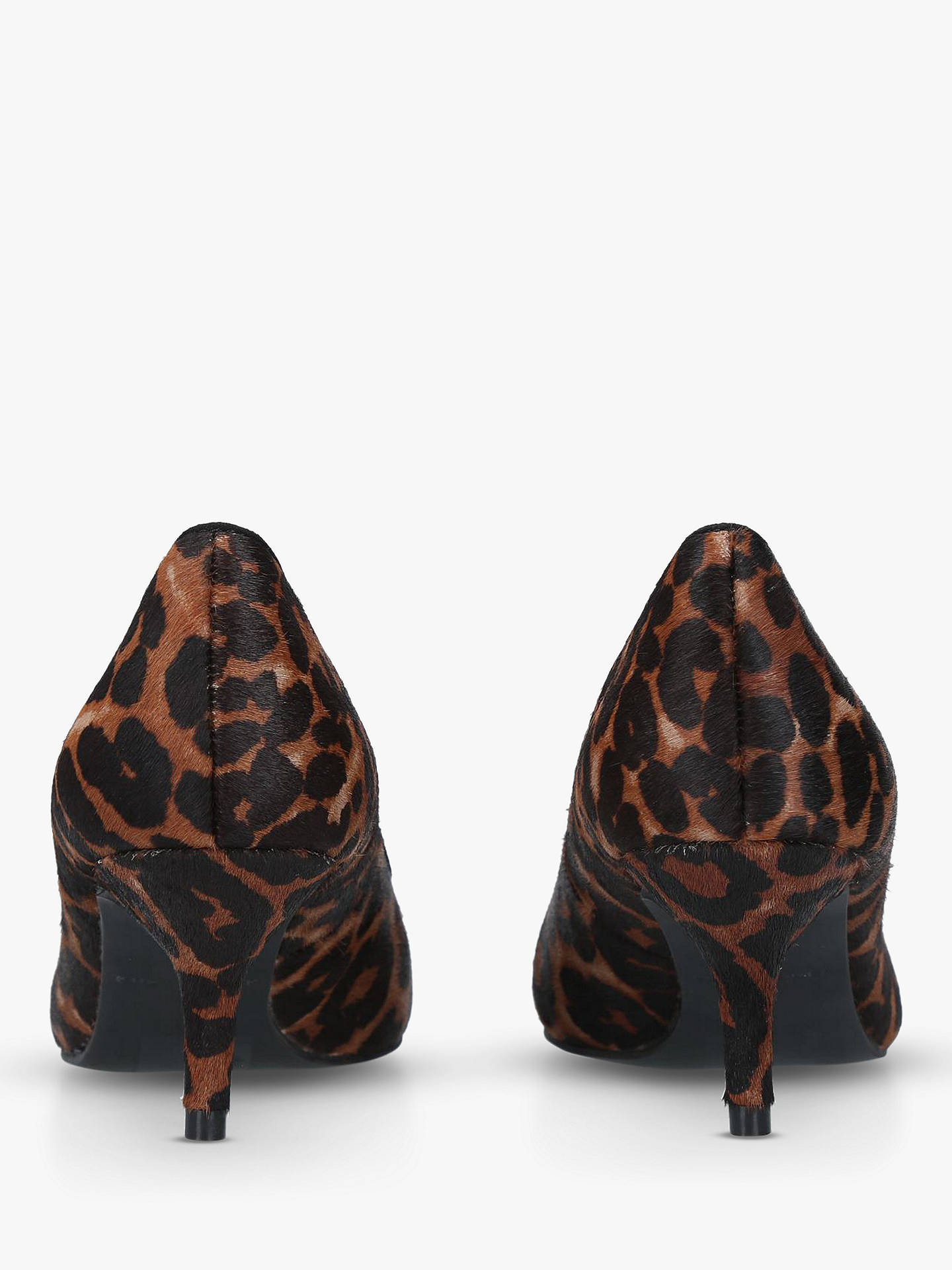 702ad57434c Kurt Geiger London Peony Court Shoes, Leopard Leather at John Lewis ...