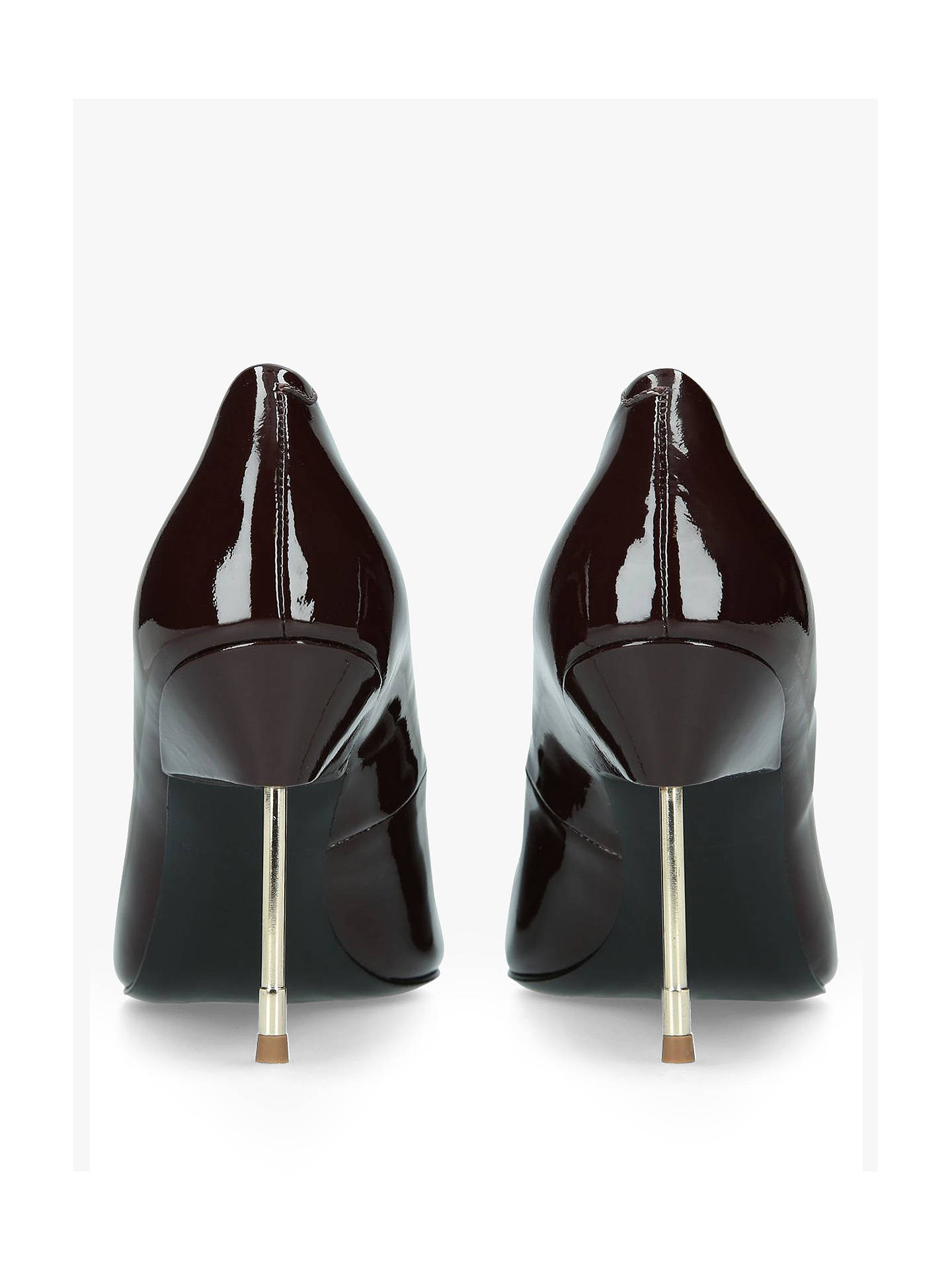 08a0542a19d Kurt Geiger London Britton Court Shoes, Red Wine Patent at John ...