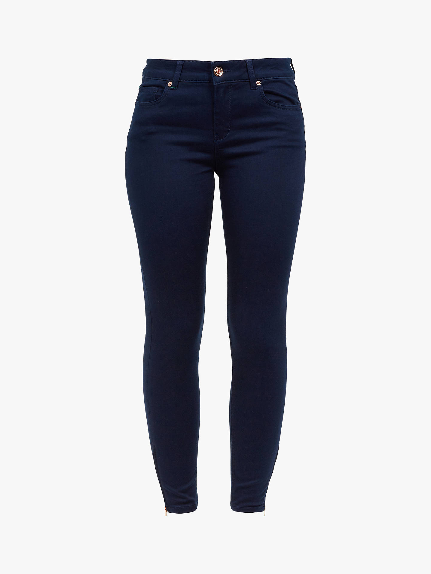 Buy Ted Baker Dariaas Skinny Rinse Wash Jeans, Blue Navy, 30R Online at johnlewis.com