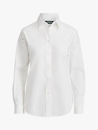 Lauren Ralph Lauren Jamelko Long Sleeve Shirt, White