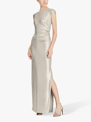 Lauren Ralph Lauren  Walt Cap Sleeve Dress, Gold