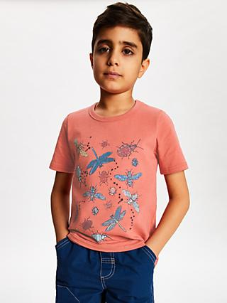 John Lewis & Partners Boys' Bugs T-Shirt, Red