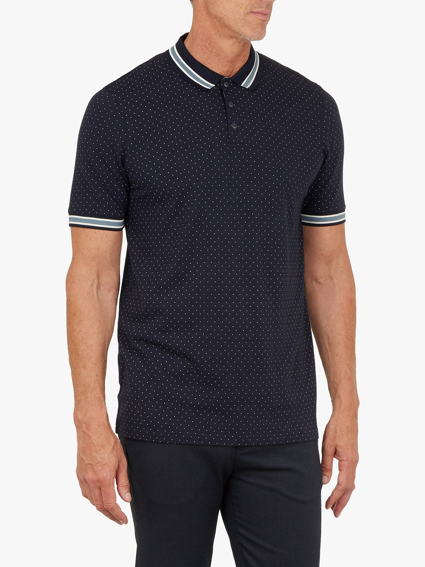 be4e0f76a Ted Baker T for Tall Museo Spot Print Polo Shirt at John Lewis ...