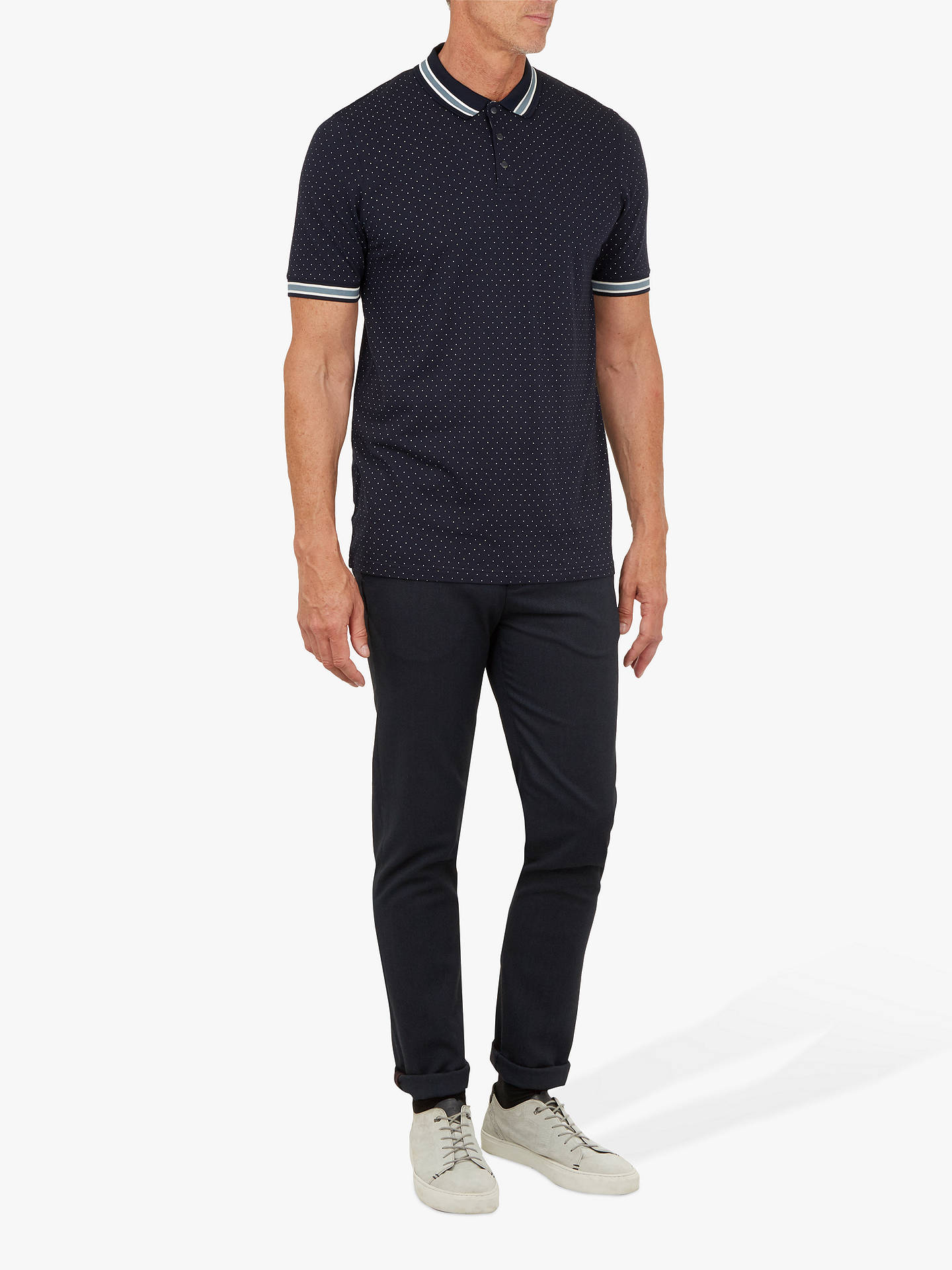 Buy Ted Baker T for Tall Museo Spot Print Polo Shirt, Navy, L Online at johnlewis.com