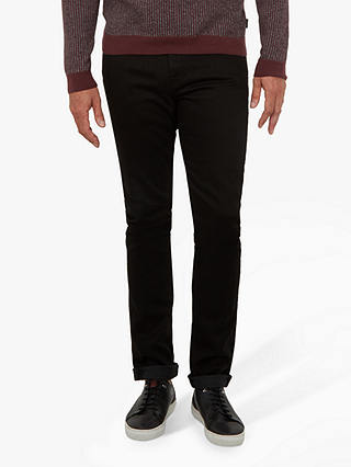 Buy Ted Baker T for Tall Bunting Straight Fit Jeans, Black, 32L Online at johnlewis.com