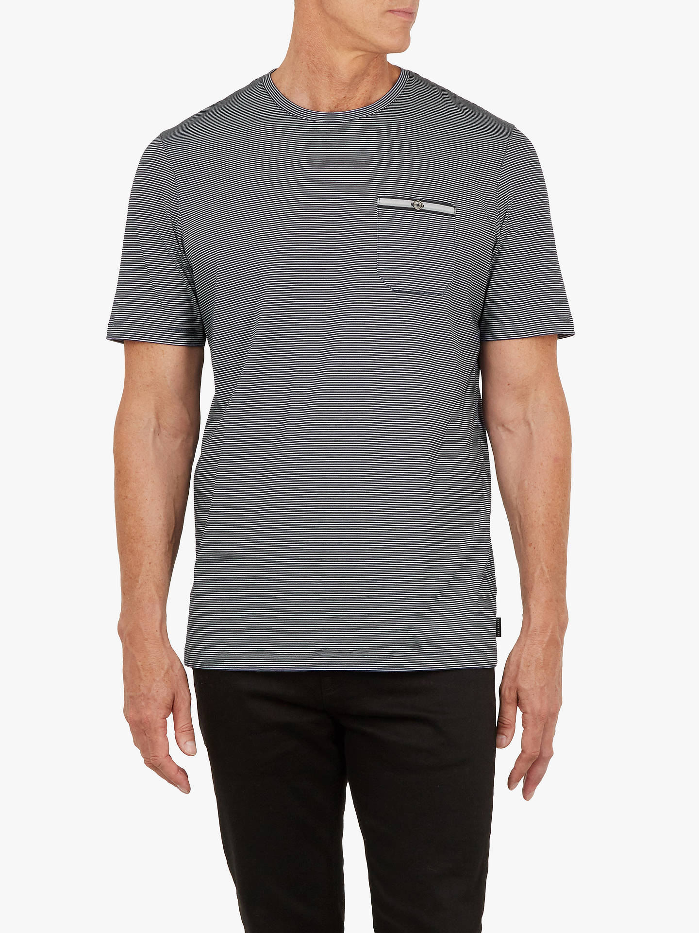 Buy Ted Baker T for Tall Pikmi Short Sleeve Stripe T-Shirt, Navy, S Online at johnlewis.com
