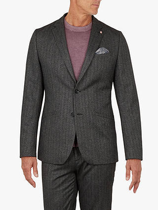 Buy Ted Baker T for Tall Wensltt Jacket, Charcoal Grey, XXL Online at johnlewis.com