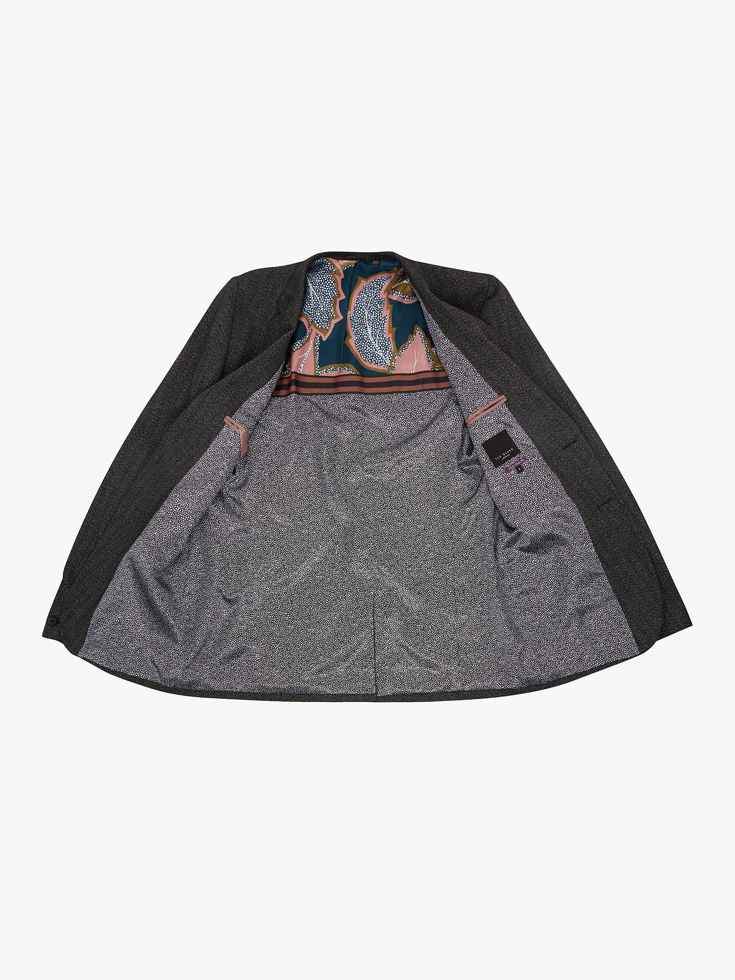 BuyTed Baker T for Tall Wensltt Jacket, Charcoal Grey, XL Online at johnlewis.com