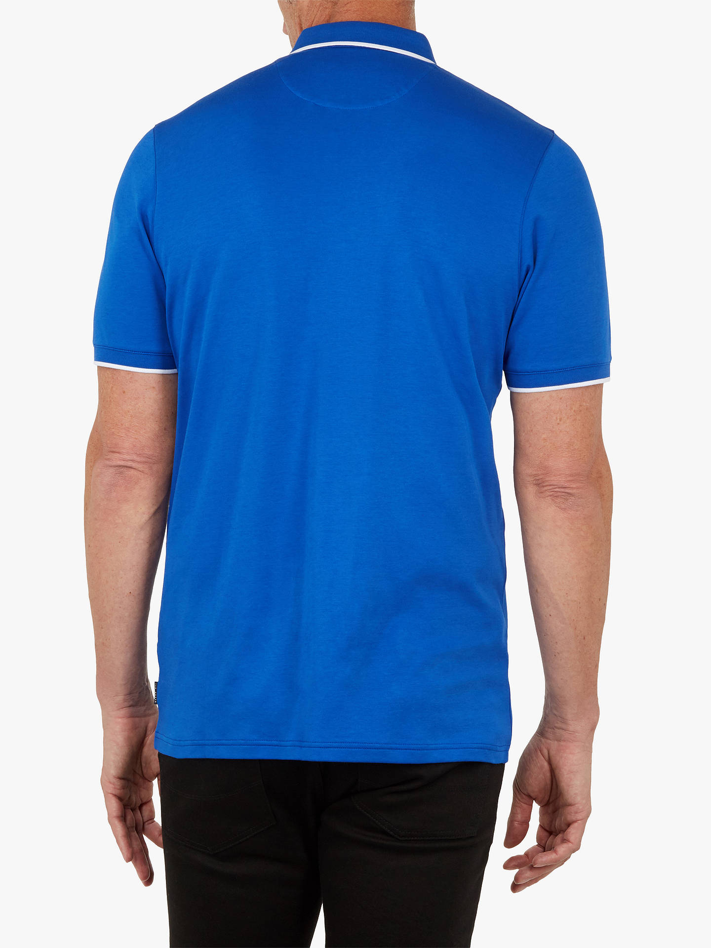 BuyTed Baker T for Tall jellytt Short Sleeve Polo Shirt, Bright Blue, XL Online at johnlewis.com