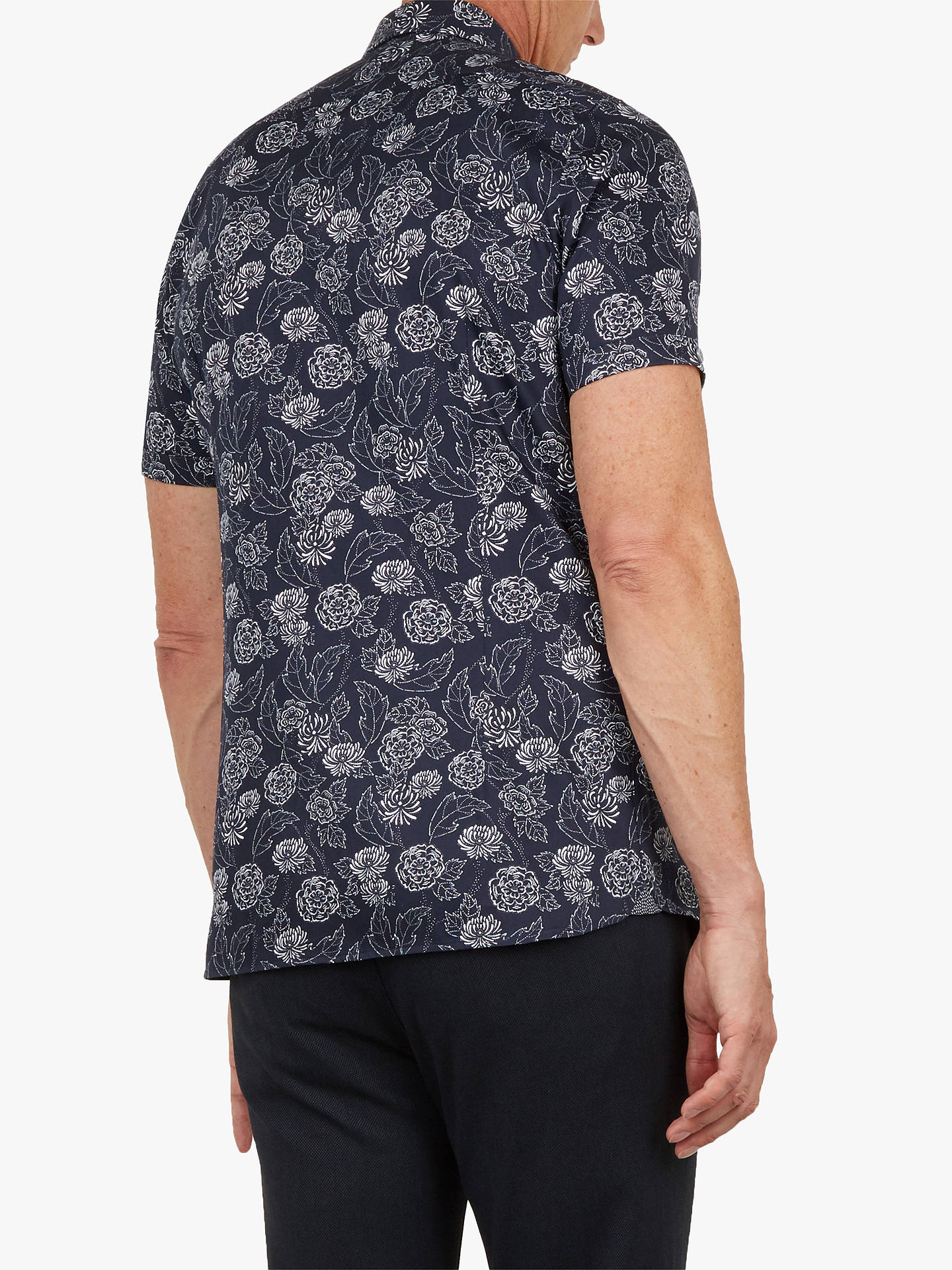 Buy Ted Baker T for Tall Teval Floral Short Sleeve Shirt, Navy, 16 Online at johnlewis.com