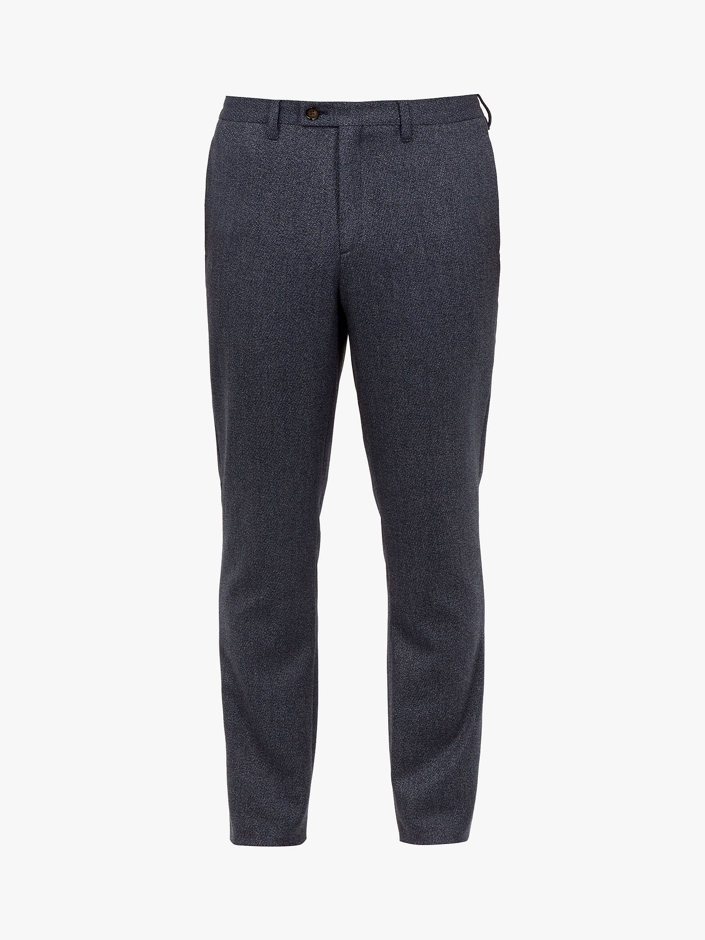 BuyTed Baker T for Tall Buftrtt Twill Trousers, Mid Blue, 32L Online at johnlewis.com