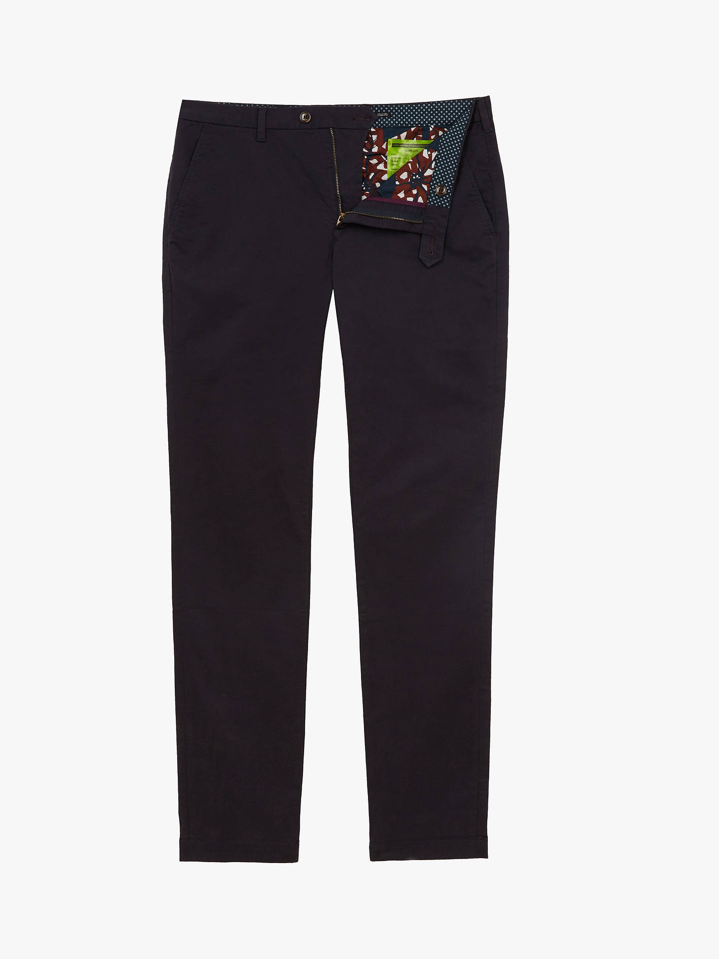 BuyTed Baker T for Tall Selebtt Slim Fit Chinos, Navy, 34L Online at johnlewis.com