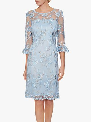 Gina Bacconi Denise Lace Dress, Blue