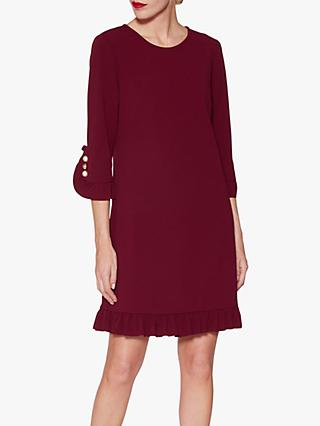 Gina Bacconi Garcelle Frill Dress, Wine