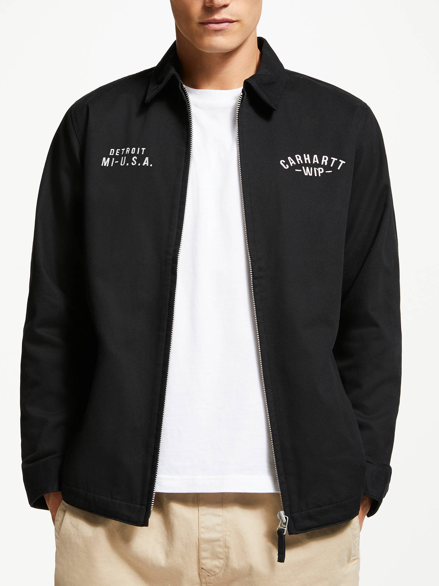 b6827a6b8f Buy Carhartt WIP Lakes Jacket, Black, XL Online at johnlewis.com ...
