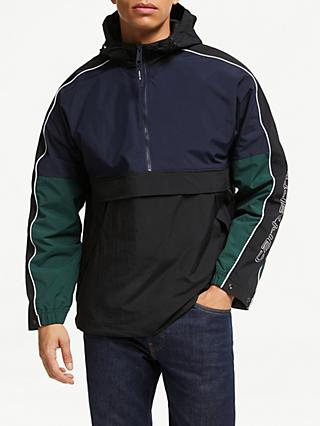 Carhartt WIP Terrace Pullover Jacket, Navy/Black/Bottle Green