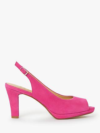 0c4f4ebb2e6bb John Lewis   Partners Cora Stiletto Block Heel Peep Toe Slingback Sandals
