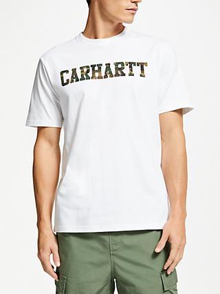 01ab220c3f Carhartt WIP College Logo T-Shirt, White/Camo