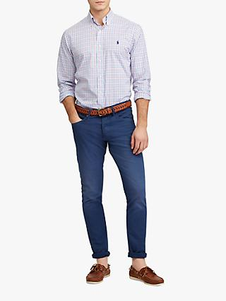 703333e4 Polo Ralph Lauren Long Sleeve Check Shirt, Blush/Navy