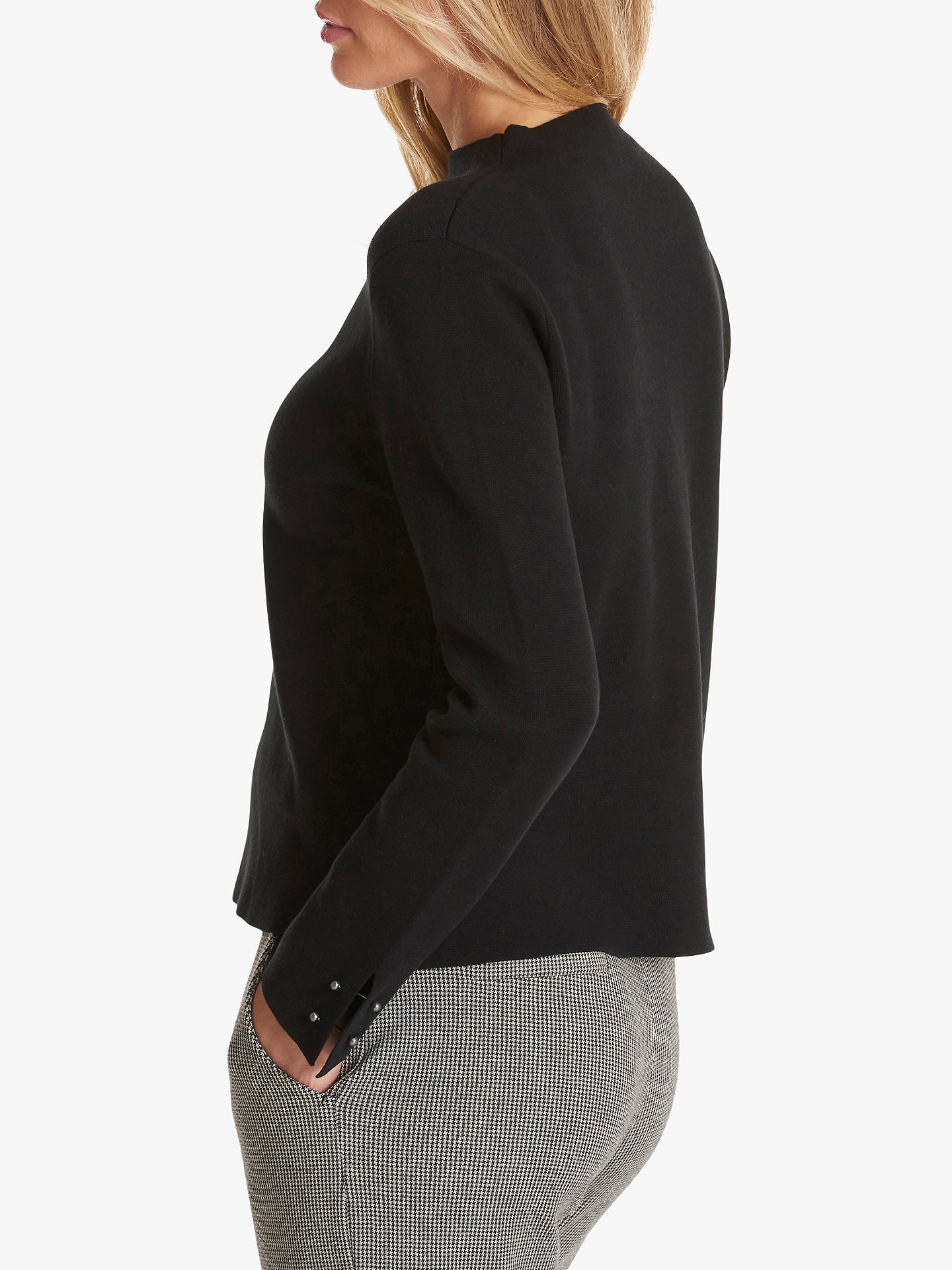 Buy Betty & Co. Crew Neck Sweater, Black, 16 Online at johnlewis.com