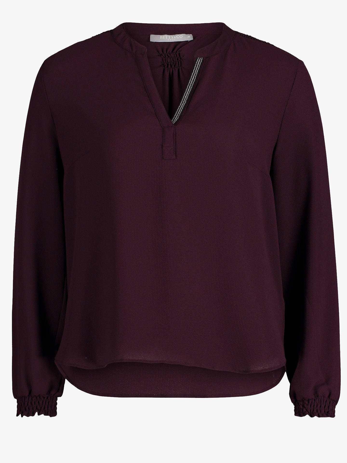 BuyBetty & Co. Crepe Blouse, Wine Tasting, 10 Online at johnlewis.com