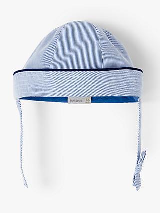John Lewis   Partners Heirloom Collection Baby Ridged Stripe Tie Hat dda86e773b5b