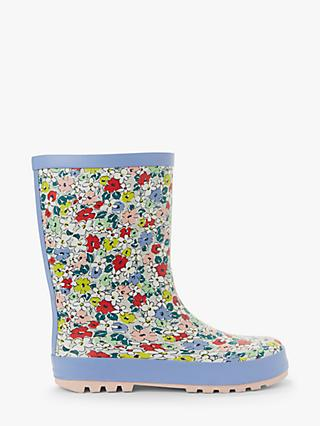 John Lewis & Partners Children's Floral Wellington Boots, Multi