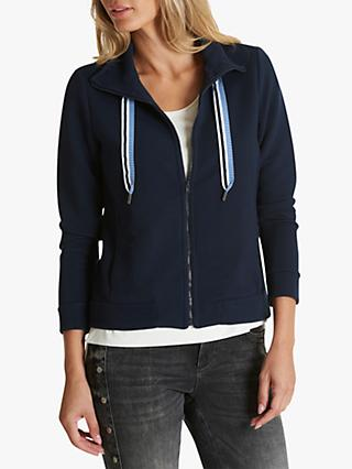 Betty & Co. Textured Funnel Neck Cardigan, Night Sky