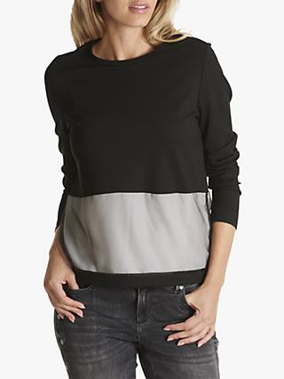 Betty Barclay Layered Half & Half Top, Black
