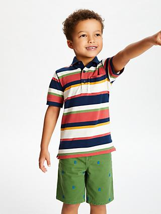 John Lewis & Partners Boys' Stripe Polo Shirt, Multi