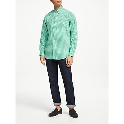 Polo Ralph Lauren Poplin Gingham Classic Fit Shirt, Stem Green