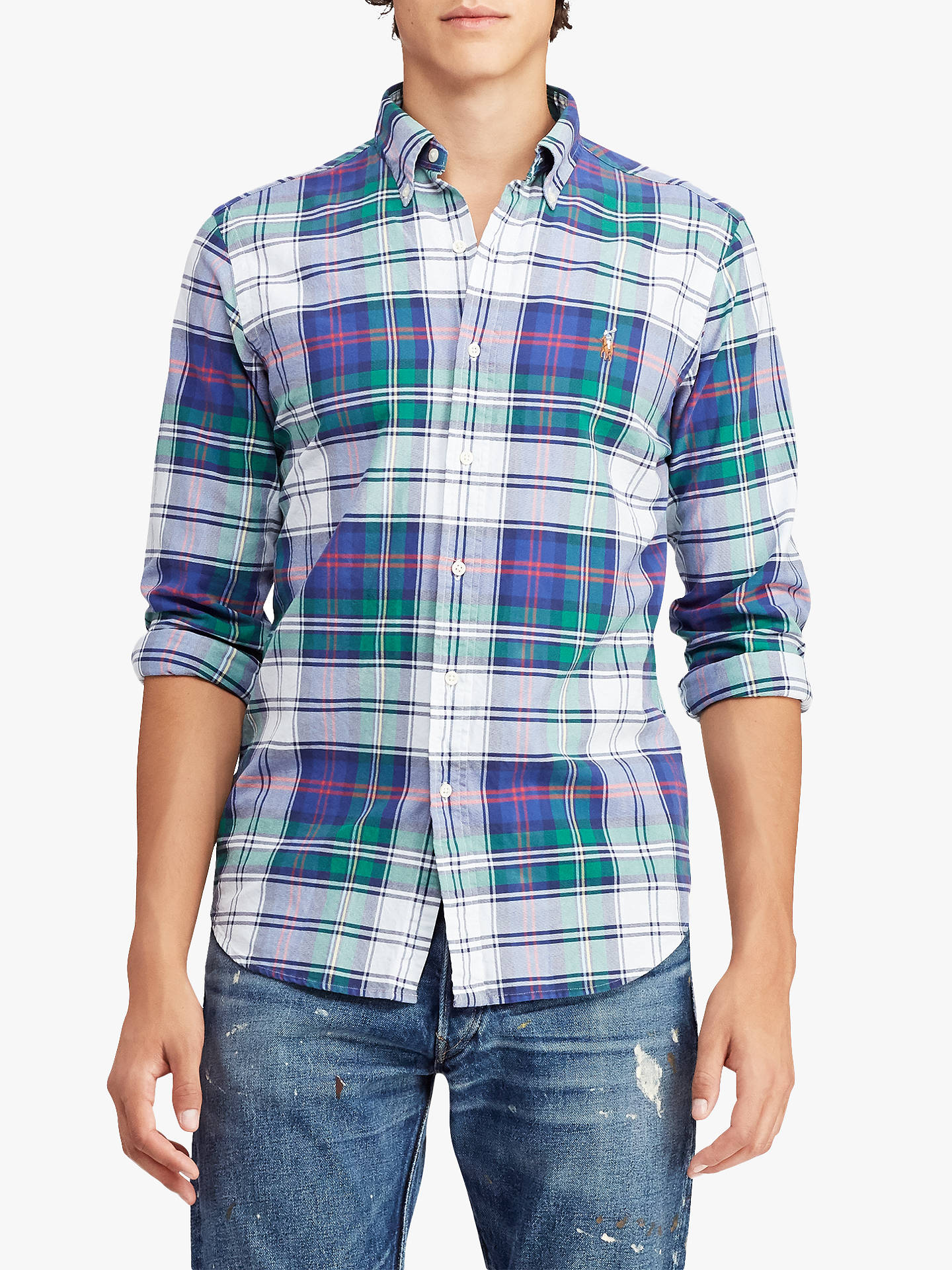 5a00f8de4d Buy Polo Ralph Lauren Classic Fit Plaid Oxford Shirt