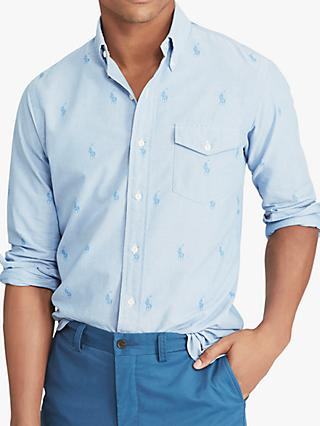 5a5fa359a2d8e Polo Ralph Lauren Classic Fit Oxford Shirt, Blue Tonal Polo Pony