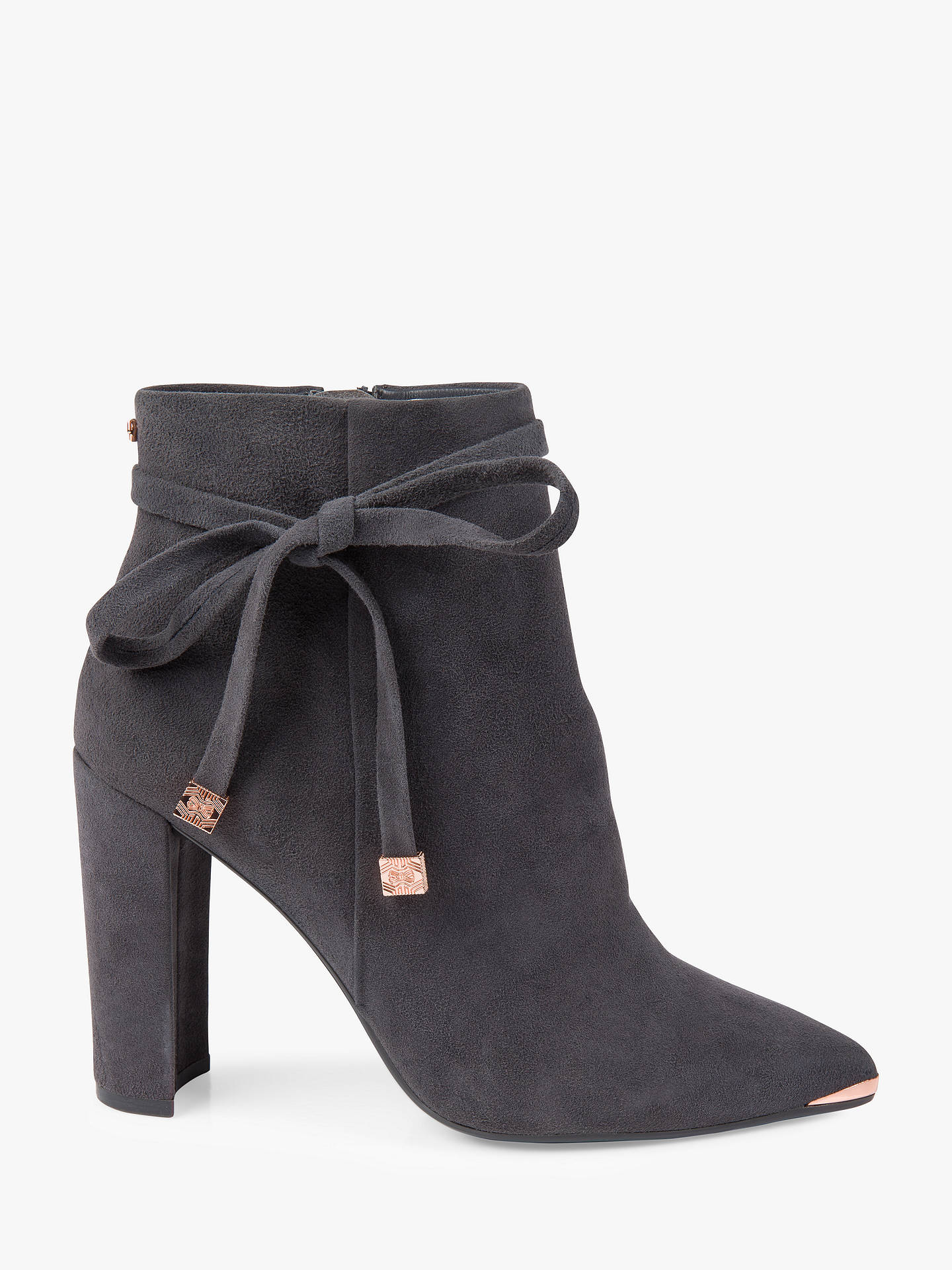 484bd8cb5 Ted Baker Qatena Tie Block Heel Ankle Boots at John Lewis   Partners