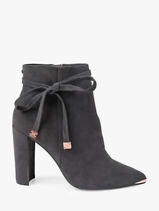 fcd7b6a1195 Ted Baker Qatena Tie Block Heel Ankle Boots