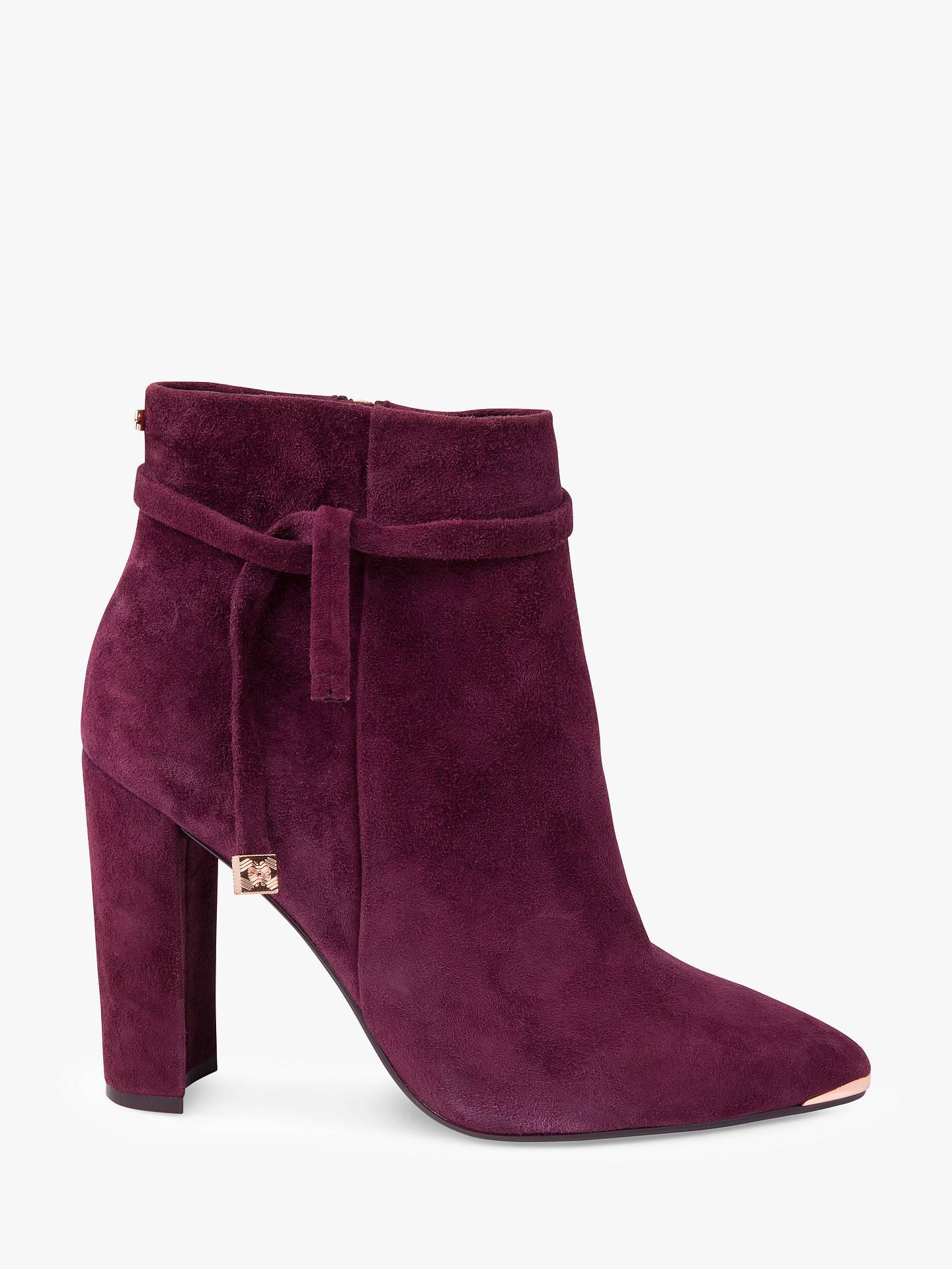 f73406568 Buy Ted Baker Qatena Tie Block Heel Ankle Boots