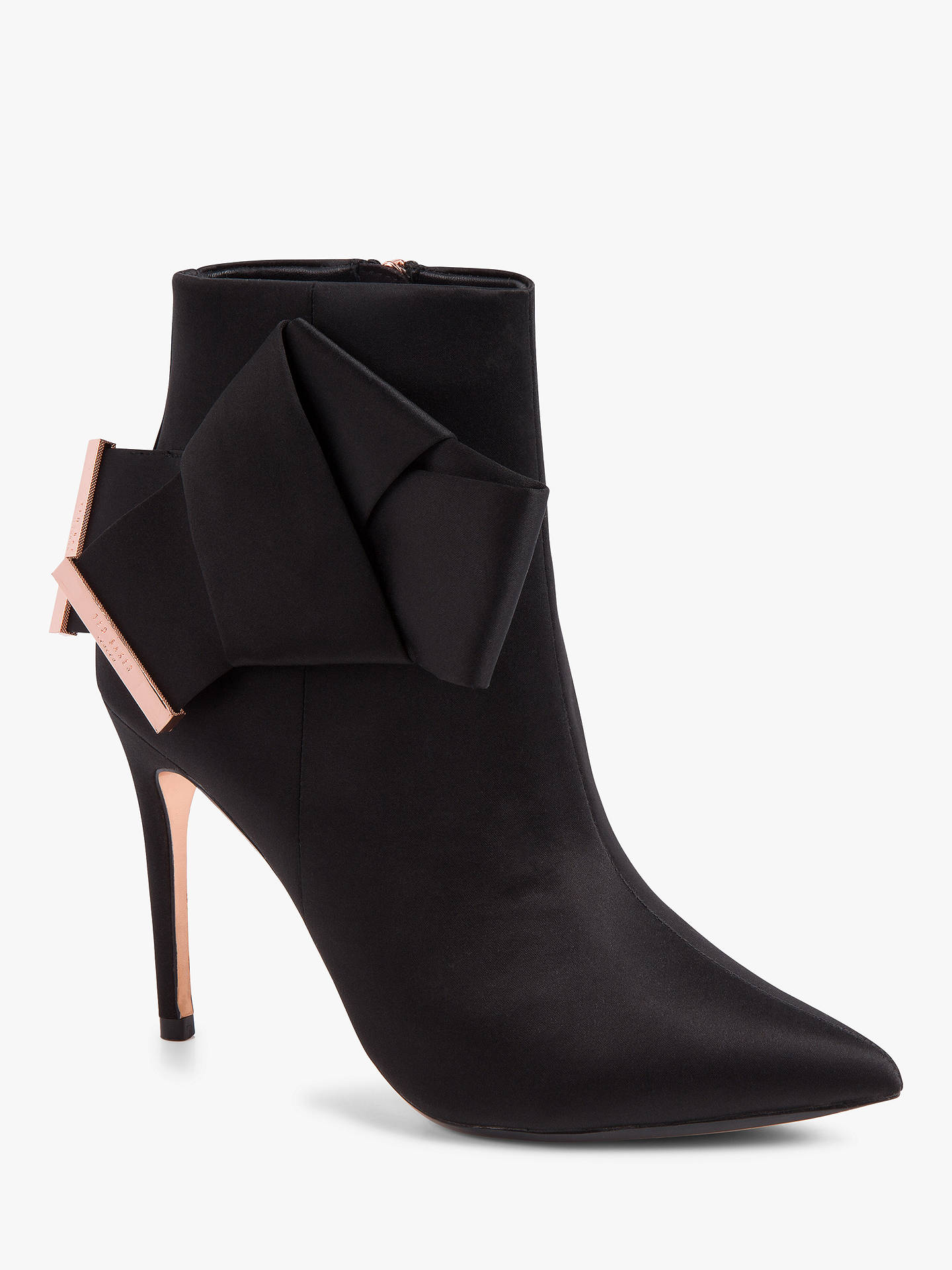 Buy Ted Baker Celiah High Stiletto Heel Ankle Boots, Black, 3 Online at johnlewis.com