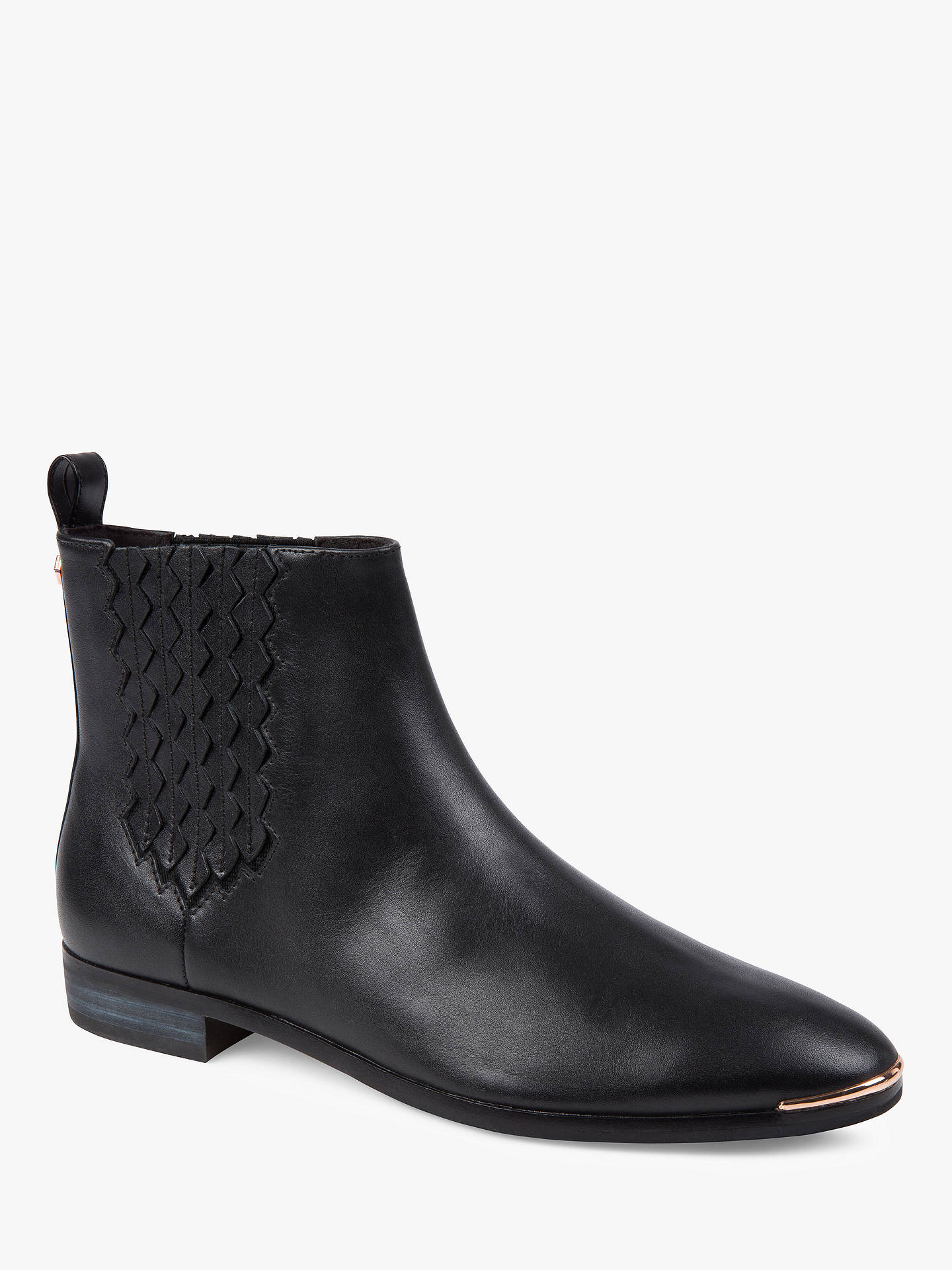 Buy Ted Baker Liveca Chelsea Ankle Boots, Black Leather, 3 Online at johnlewis.com