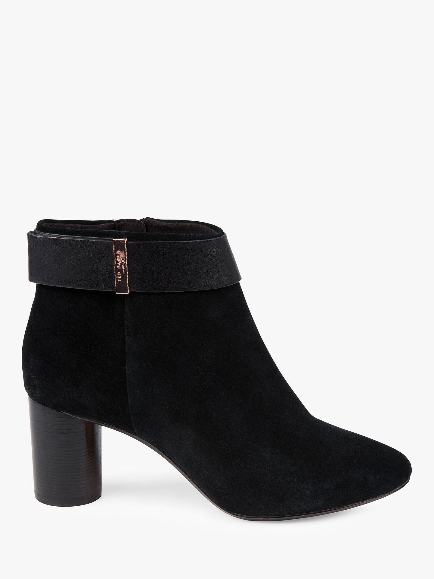 600217c2a2b Ted Baker Mharia Suede Block Heel Ankle Boots at John Lewis & Partners