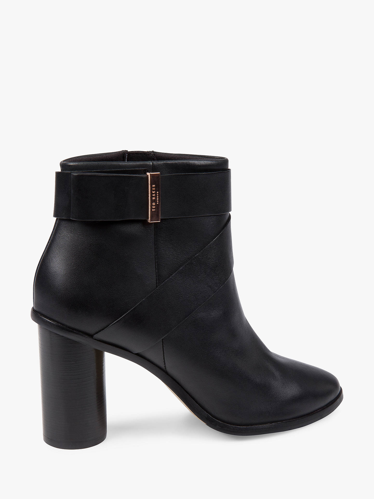 BuyTed Baker Matyna Block Heeled Ankle Boots, Black, 3 Online at johnlewis.com