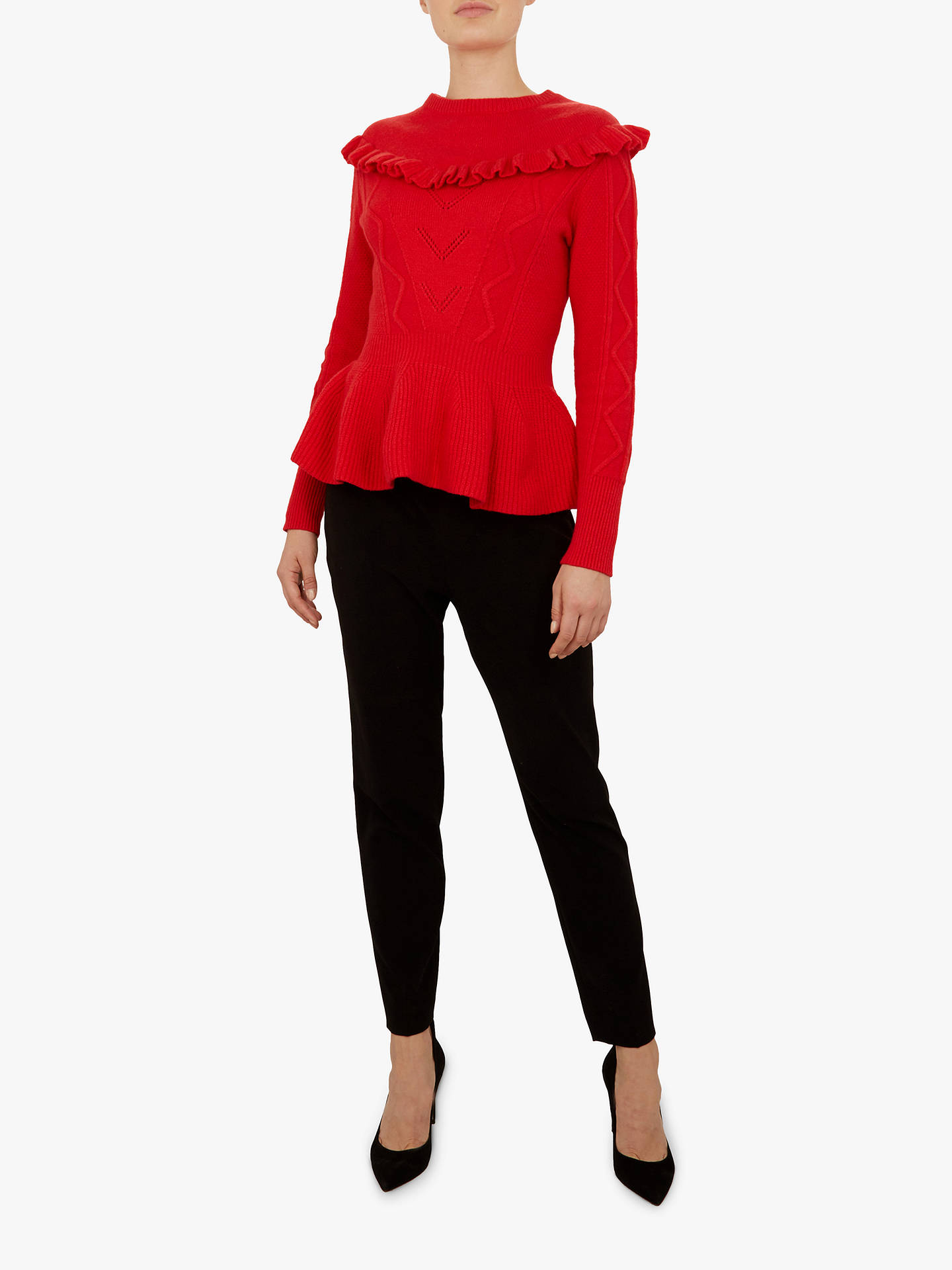 Buy Ted Baker Elsahi Sweater, Mid Red, S Online at johnlewis.com