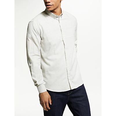 Les Deux Stripe Camus Shirt, Snow Melange