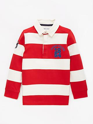 John Lewis & Partners Boys' Bar Stripe Rugby Top