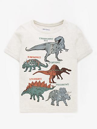 John Lewis & Partners Boys' Dinosaur T-Shirt, Neutral