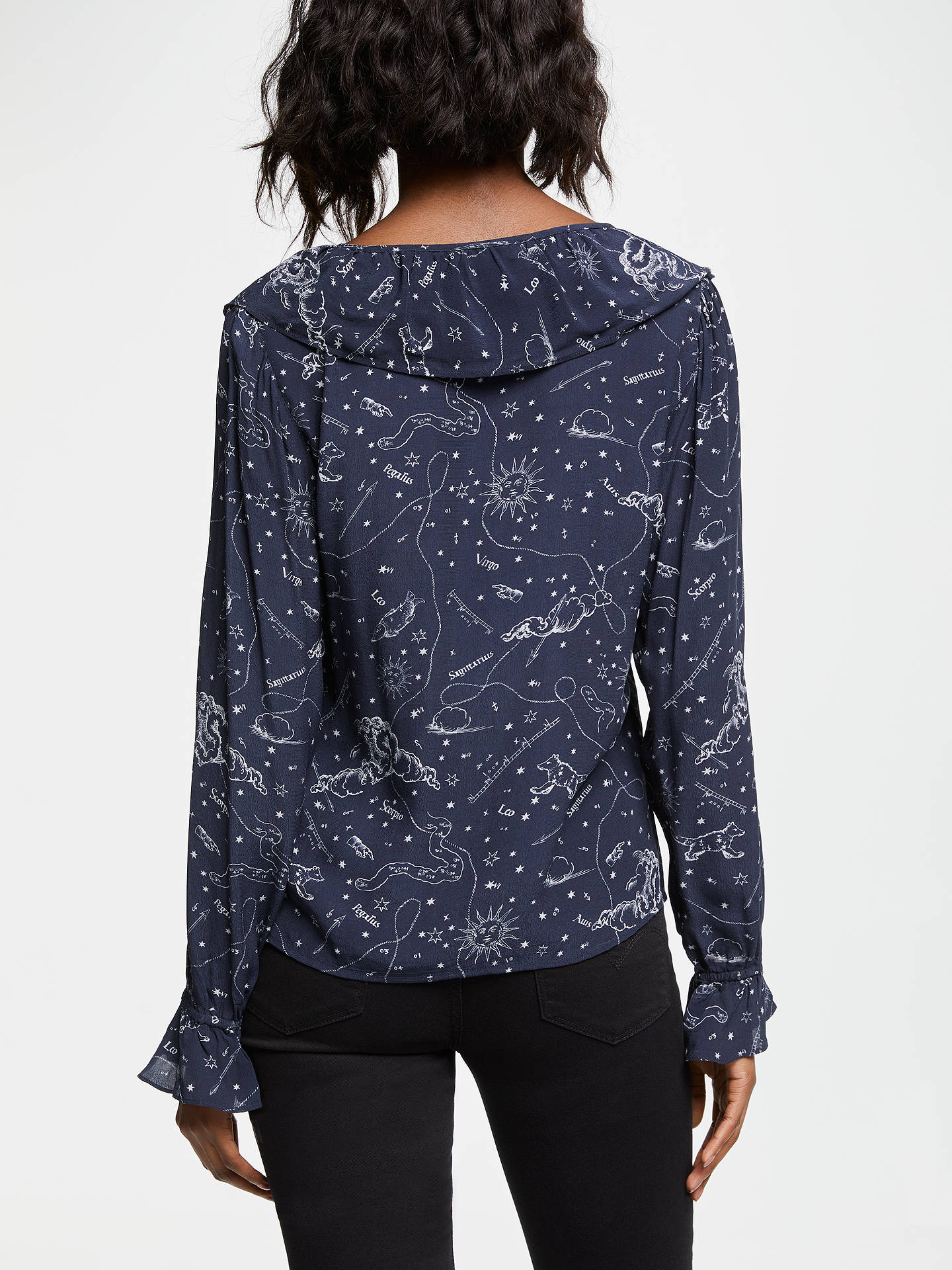 Lily and Lionel Joni Astrology Top, Navy at John Lewis
