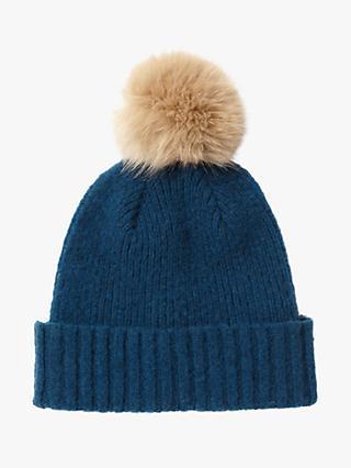 75855fb4682 Jigsaw Faux Fur Pom Pom Wool Beanie Hat