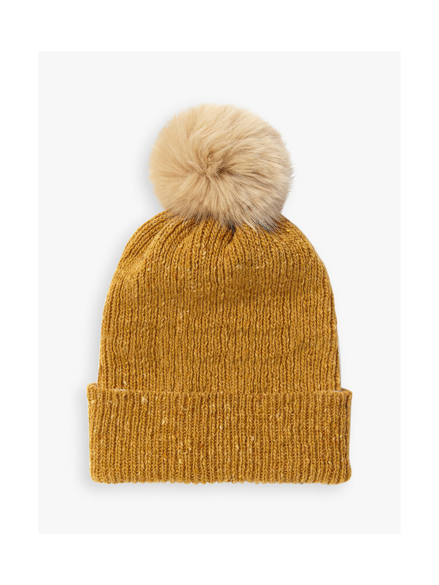 8751e534c5c Buy Jigsaw Donegal Stripe Pom Pom Wool Beanie Hat