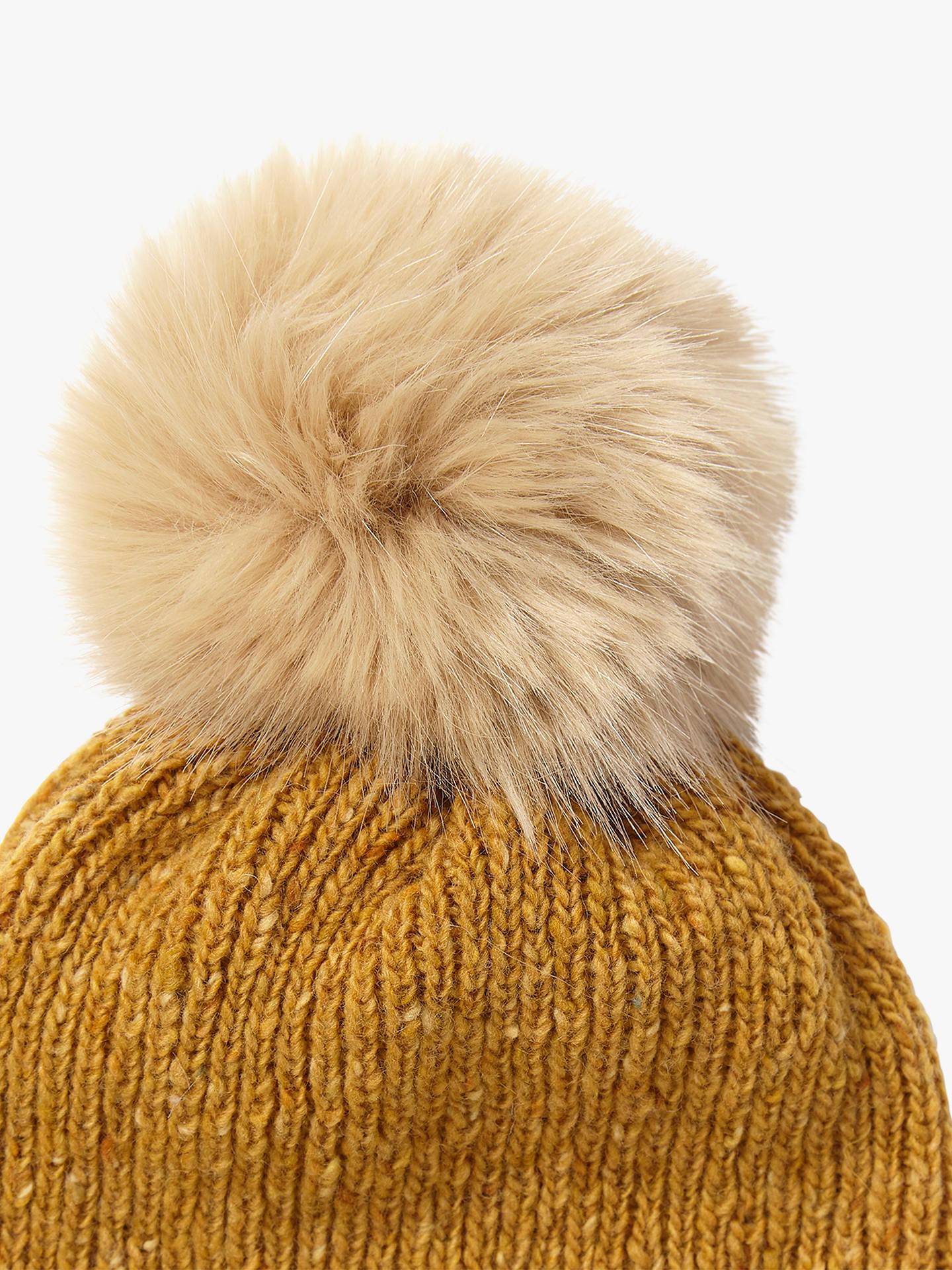 ... BuyJigsaw Donegal Stripe Pom Pom Wool Beanie Hat 36749d47426