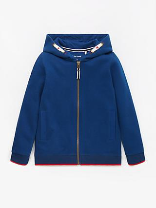 John Lewis & Partners Boys' Zip Through Hoodie, Blue