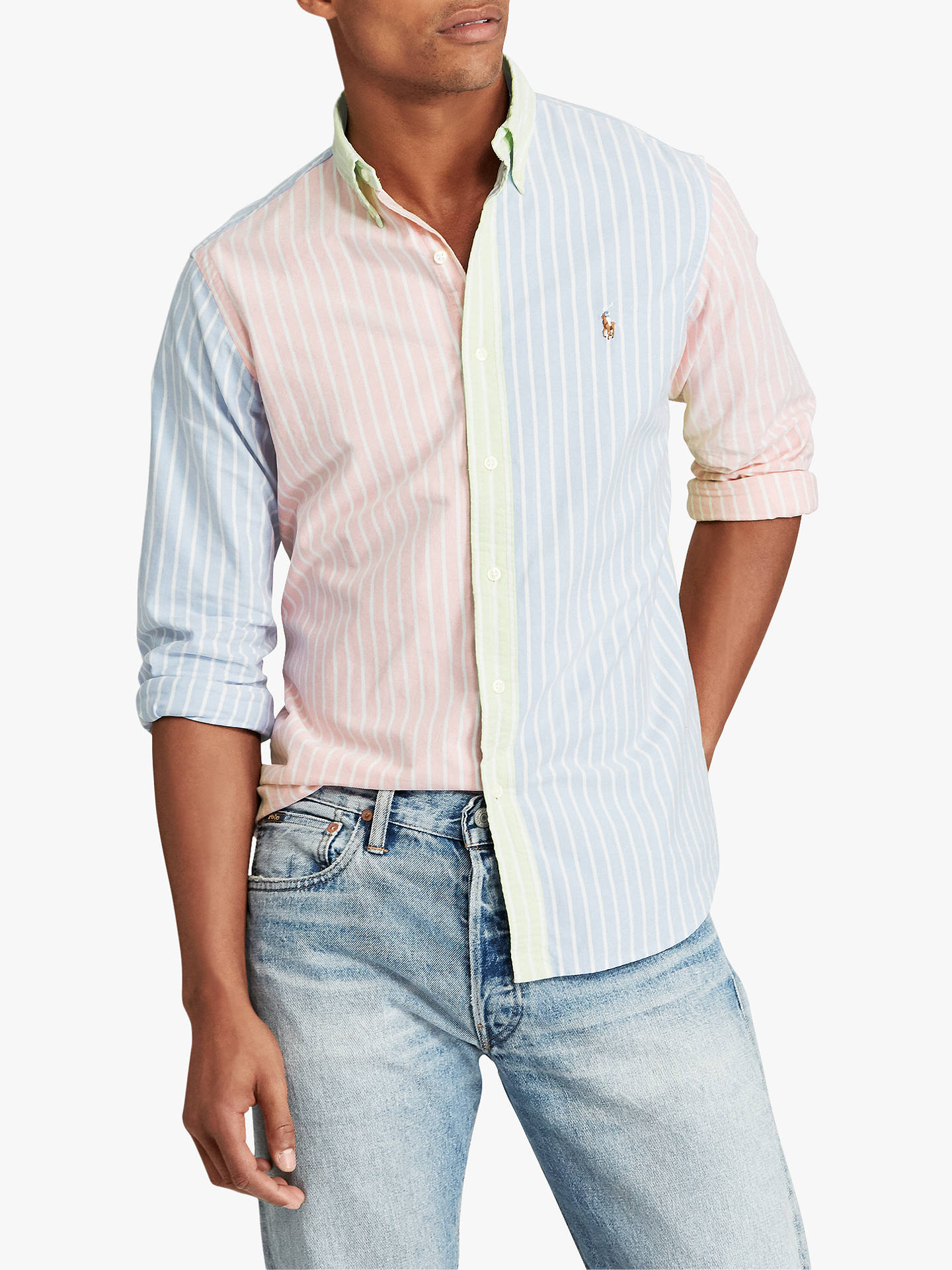 62795375 Buy Polo Ralph Lauren Classic Fit Plaid Oxford Shirt, Multi, L Online at  johnlewis ...